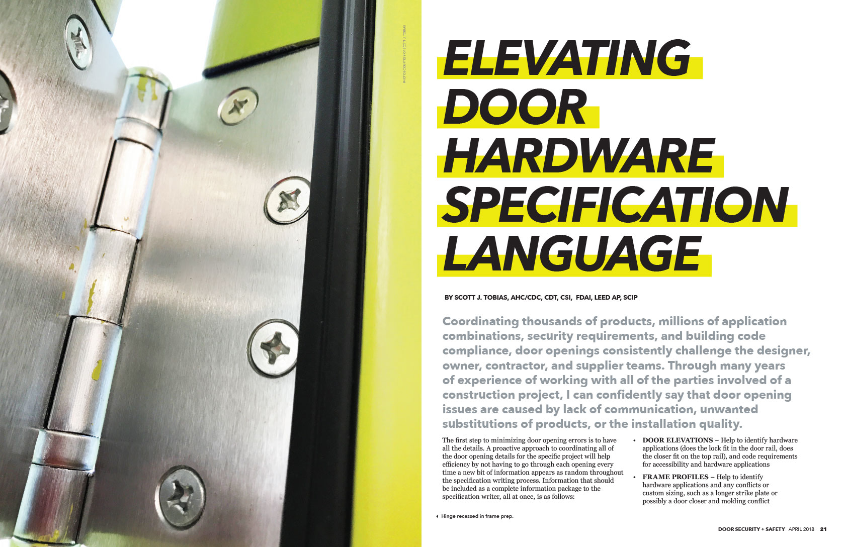 Doors and Hardware Institute (DHI)