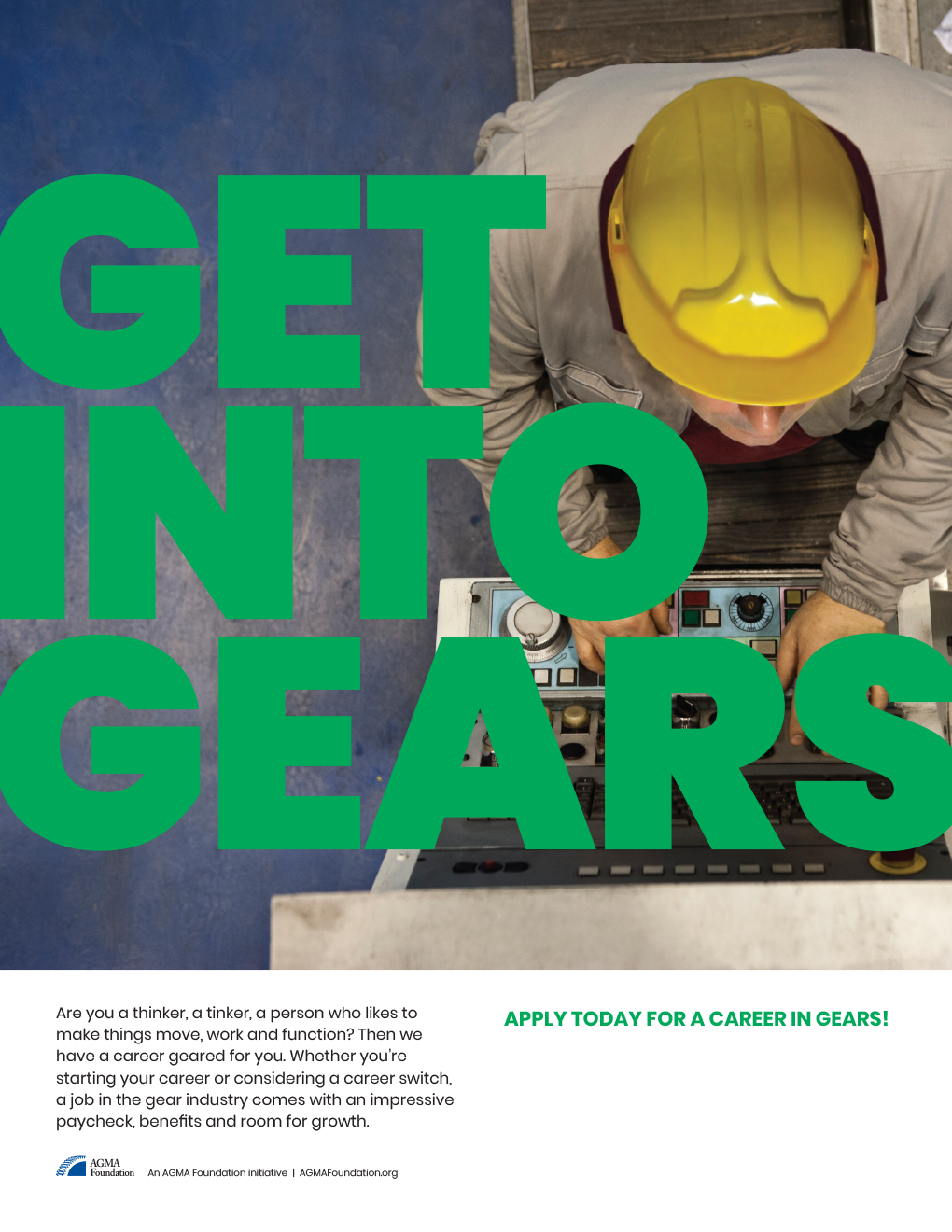 AGMA Get Into Gears Print Ad