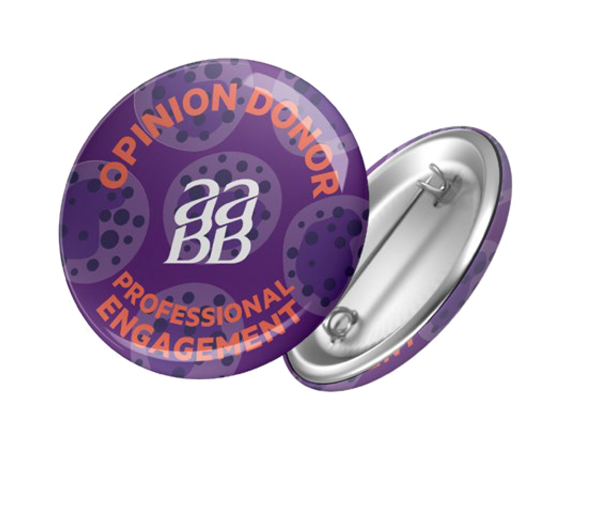 AABB - Opinion Donor - Button