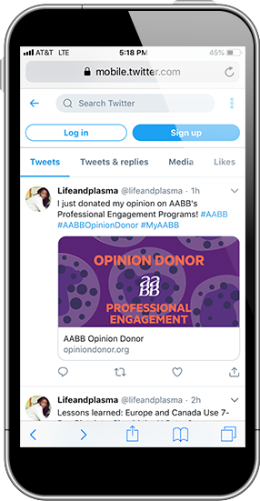 AABB - Opinion Donor Twitter