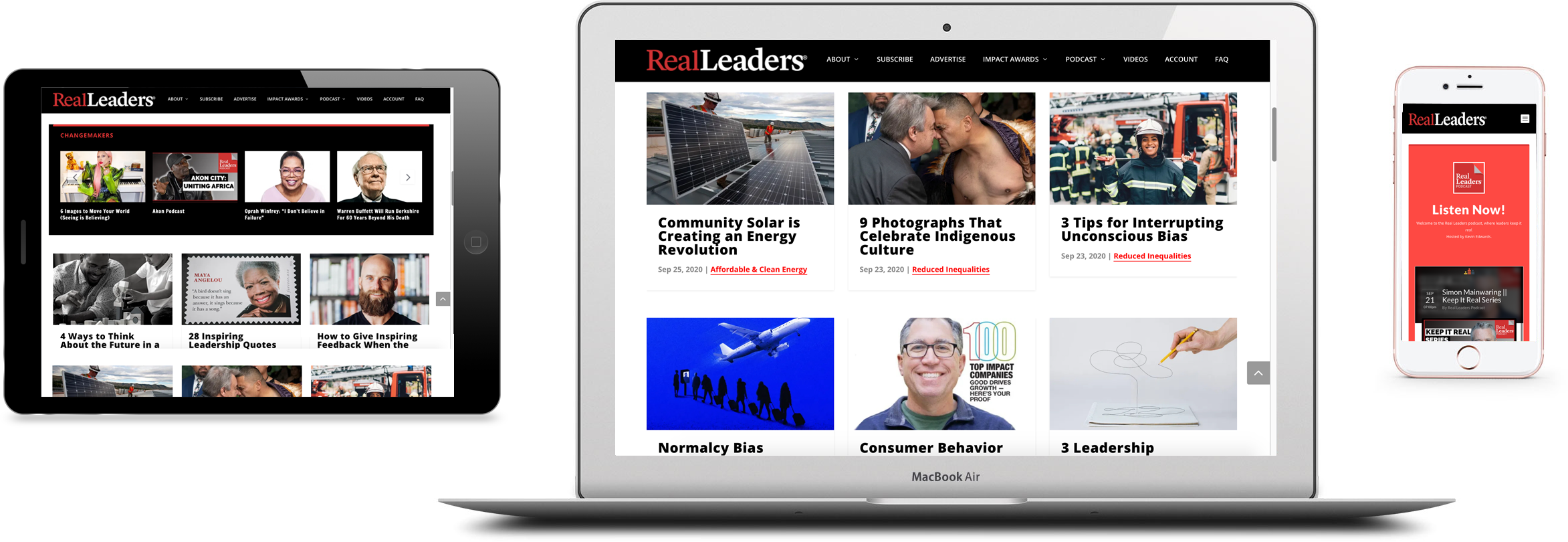 Real Leaders Expanded Digital Brand