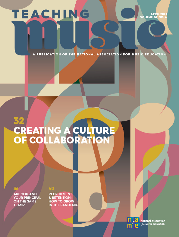 NAFME Teaching Music Cover April 2021